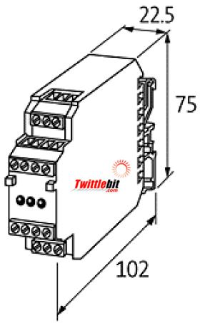 85650, Murr GSS series Input 24VDC/Liinear regulated 5VDC Output DC to DC