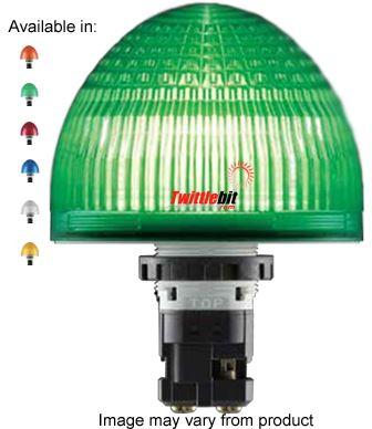 HW1P-5Q4-A, 22mm Jumbo Dome Pilot Light, 24VAC/DC LED