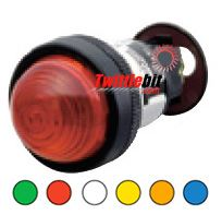 DR22D0LH3S, 22mm Dome Pilot Lights, 110VAC LED, with Transformer