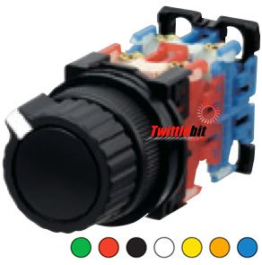 AR30S3R-22B, 30mm 2 Position Combination Pushbutton / Selector Switch