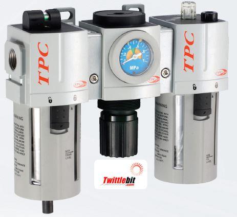PC4-N04DG-L, PC4 Series FRL- Filter, Regulator, and Lubricator