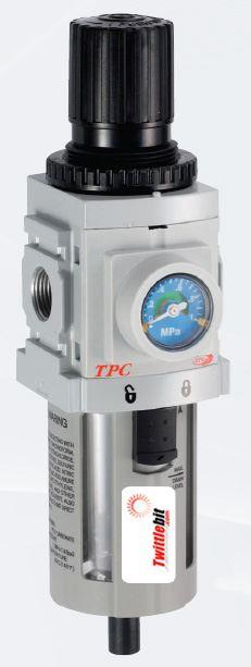 PP303BDG, PP3 Series Piggyback Filter - Regulator