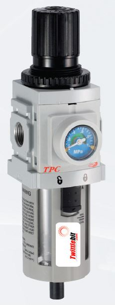 PP3-N03BDG, PP3 Series Piggyback Filter - Regulator