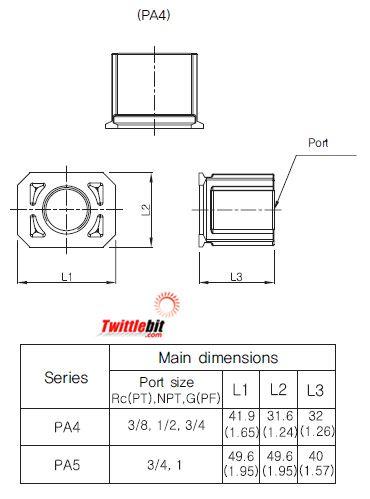 PA4N04, Modular Pipe Adapter