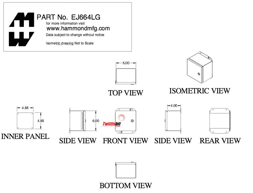 EJ664LG, Junction Boxes without Terminals / Pushbutton Boxes