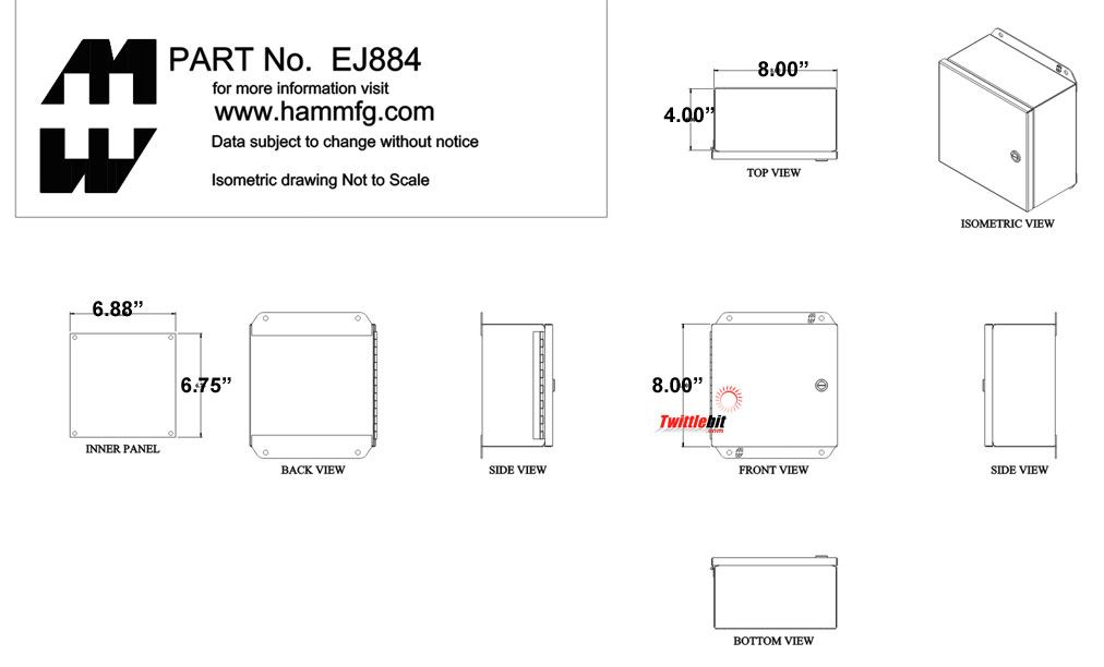 EJ884, Junction Boxes without Terminals / Pushbutton Boxes