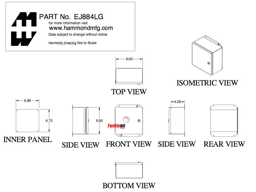 EJ884LG, Junction Boxes without Terminals / Pushbutton Boxes