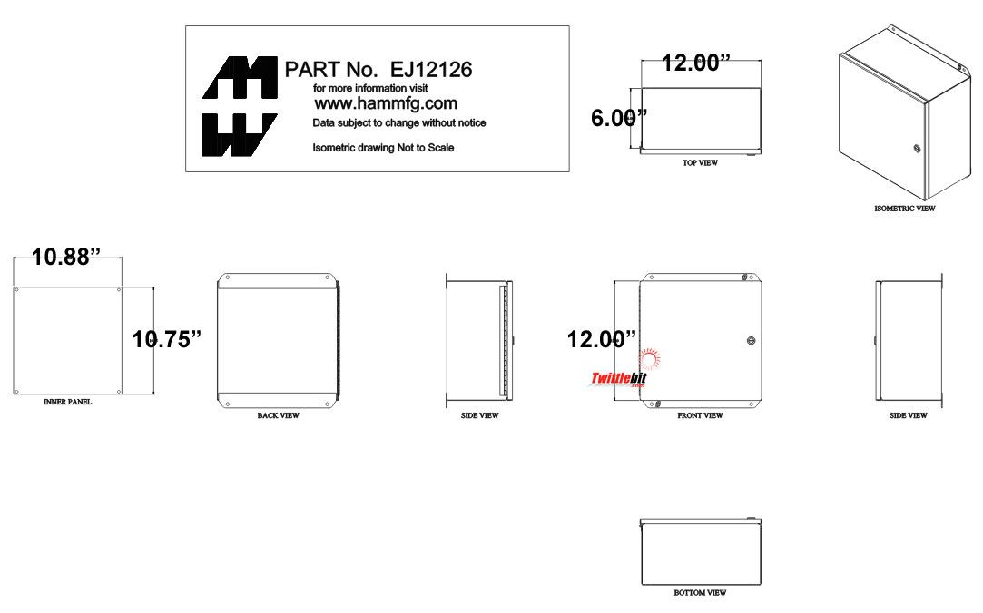 EJ12126, Junction Boxes without Terminals / Pushbutton Boxes