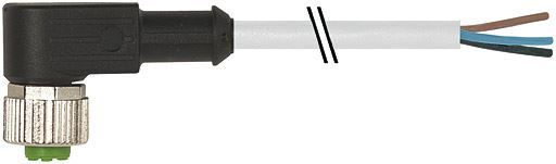 7000-12361-2350500, M12 5 Pole Open-ended Robotic PUR Micro Cables