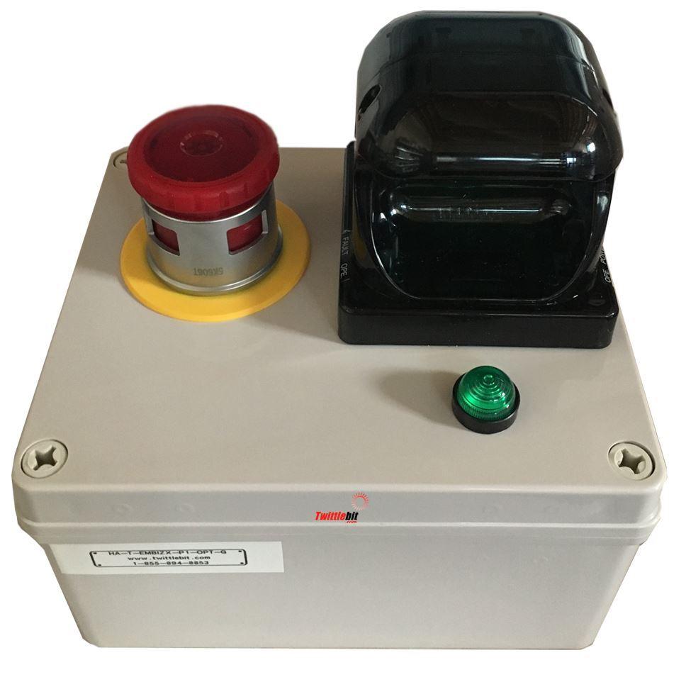 HATEMBIZXP1OPTG, Start Box Green with Optic Switch