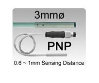 Picture for category 3mmø DC 3 wire PNP Miniature Inductive Proximity Sensors