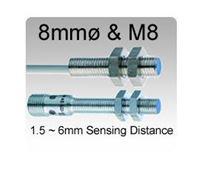 Picture for category 8mmø & M8 Inductive Proximity Sensors, 1.5~6mm Sensing Range