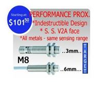 Picture for category M8 DC 3 wire NPN Perfect Cure 'The Bomb' Inductive Proximity Sensors