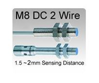Picture for category M8 DC 2 wire Tubular Inductive Proximity Sensors