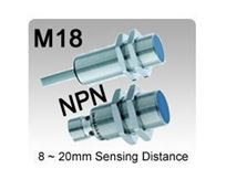 Picture for category M18 DC 3 wire NPN Inductive Proximity Sensors