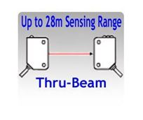 Picture for category Thru-beam Photoelectric Sensors, Up to 28 Meters Sensing Range