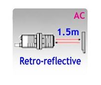 Picture for category M18 Tubular Body AC Retro-reflective Photoelectric Sensors