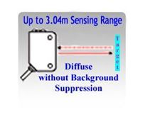 Picture for category Diffuse Photoelectric Sensors without Background Suppression, Up to 3.04 Meters Sensing Range