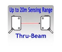 Picture for category Thru-beam Photoelectric Sensors, Up to 20 Meters Sensing Range