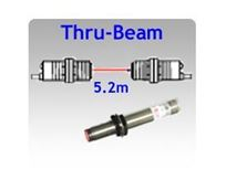Picture for category M12 Tubular Body Thru-beam Photoelectric Sensors, 5.2m Sensing Range