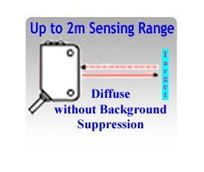 Picture for category Diffuse Photoelectric Sensors without Background Suppression, Up to 2 Meters Sensing Range