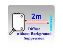 Picture for category 50x50x23mm Compact Diffuse without Background Suppression Photoelectric Sensors
