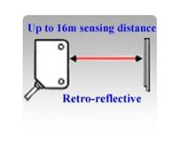 Picture for category Retro-reflective Laser Sensors, Up to 16 Meters Sensing Distance