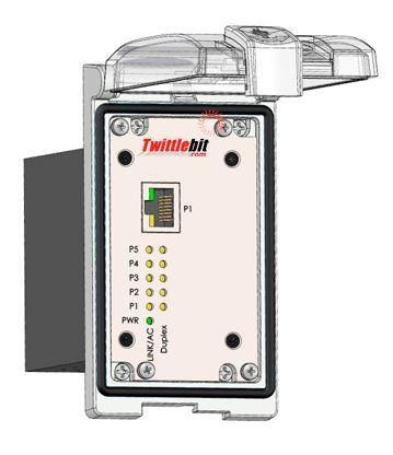 LP1-E45UM-5, 5 port unmanaged fast ethernet switch