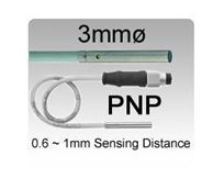3mmø DC 3 wire PNP Miniature Inductive Proximity Sensors