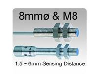8mmø / M8 Inductive Proximity Sensors | Up to 6mm Sensing Range