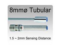 8mmø Mini Tubular Inductive Proximity Sensors, 1.5~2mm Sensing Range