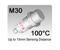 M30 High Temperature Inductive Proximity Sensors | Stainless Steel PTFE