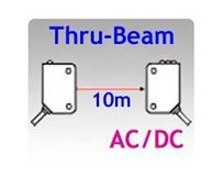 18x62x35mm Compact AC/DC Thru-beam Photoelectric Sensors