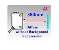 66x30.7mm Miniature AC Diffuse without Background Suppression Photoelectric Sensors