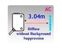 73x46mm Rectangular AC/DC Diffuse without Background Suppression Photoelectric Sensors