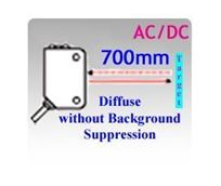 18x62x35mm Compact AC/DC Diffuse without Background Suppression Photoelectric Sensors
