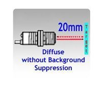 Mini Tubular: 4mmø & M5 Diffuse without Background Suppression Photoelectric Sensors