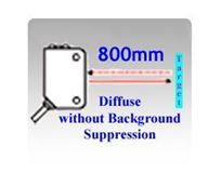 11.2x31x20mm World Standard Diffuse without Background Suppression Photoelectric Sensors