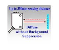 Diffuse Laser Sensors without Background Suppression, Up to 350mm Sensing Distance