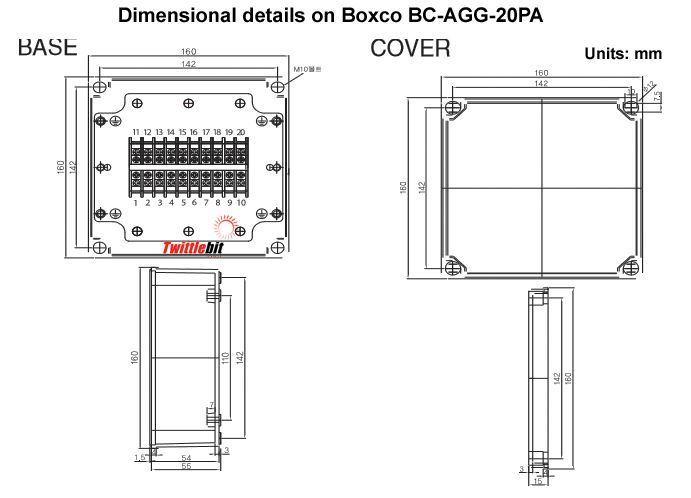 BCAGG20PA, 20 Terminal Junction Box