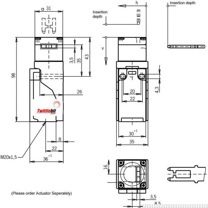 NP1648ASM, NP Safety Gate Switch