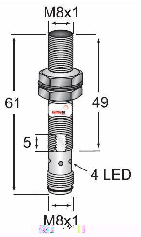OCN10802NBCL3, M8 DC 3 wire NPN OEM Value Line Inductive Proximity Sensors
