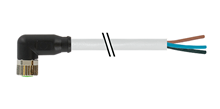 7000-08081-2100500, M8 3 pin cable 90°