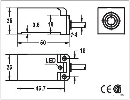FQP12510CA2U2F, DC 2 wire sensor
