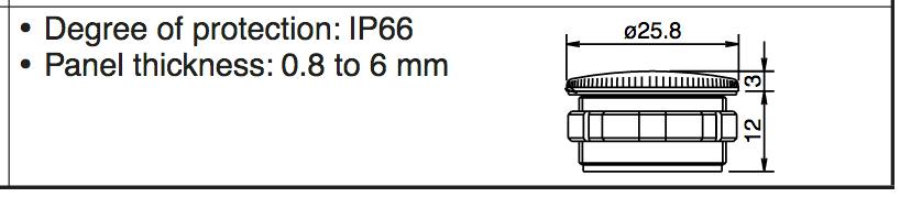 Idec LW9Z-BM, 22mm Blank Plug