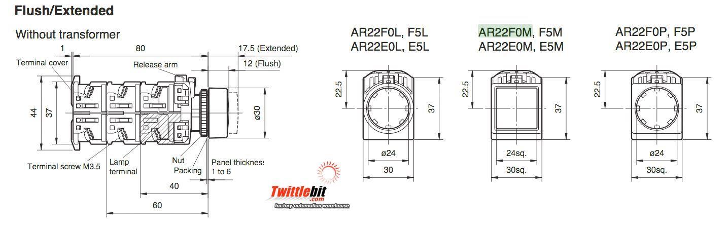 Fuji Electric AR22F0M10E3G