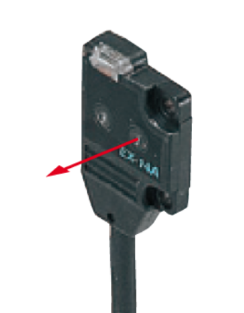EX14APN, 13x14.5x3.5mm Miniature Diffuse with Background Suppression Photoelectric Sensors