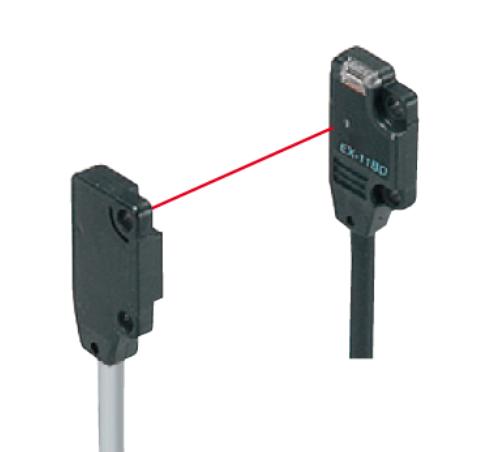 EX13BPN, Front Sensing, PNP Thru-beam Photoelectric Sensors