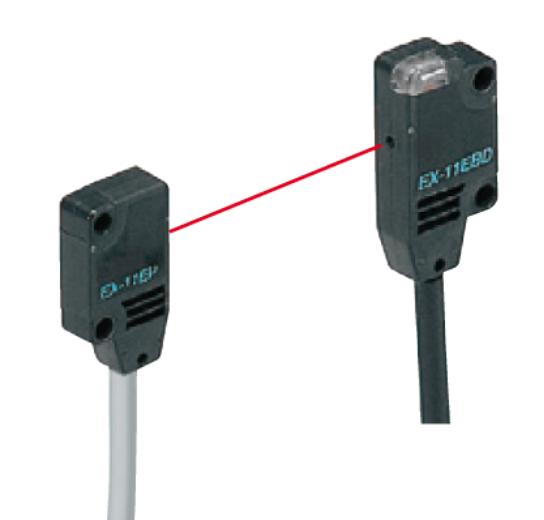 EX13EAPN, Side Sensing, PNP Thru-beam Photoelectric Sensors
