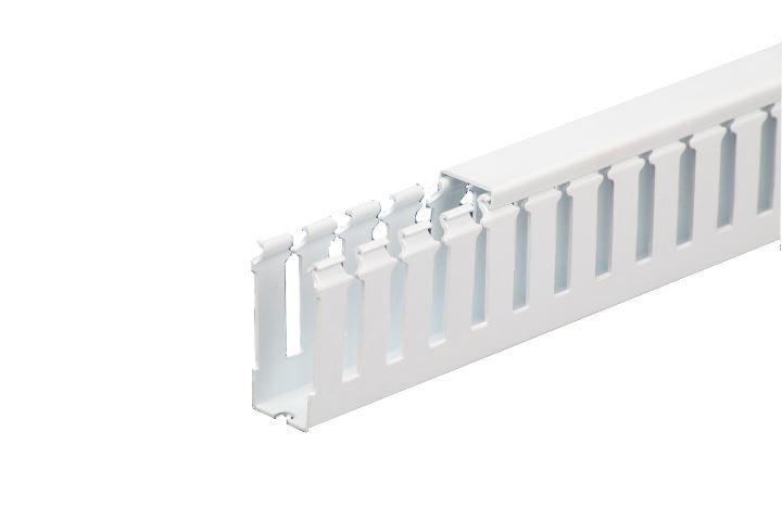 "T11540W, Iboco 1.5"" x 4"" White PVC wire duct"